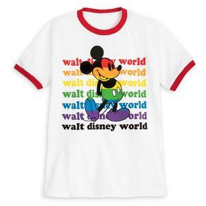 Disney Parks Rainbow Collection Mickey T-Shirt S